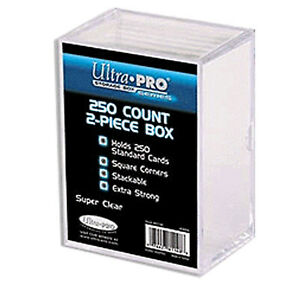 UltraPro Ultra Pro Card Storage Box 250ct | 2 Piece Acrylic Trading Card CASE
