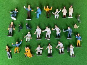 Vintage Corgi Toys Figures Lot From Silverstone Set - Officials, Pit Crew, Press