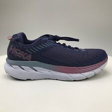 Womens 10 42 2/3 Hoka One One Clifton 5 Knit Running Shoe Purple Pink Blue White