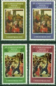 ST. KITTS & NEVIS -1969- Adoration of the Kings - XMAS 1969 - MNH Set/4-#202-205