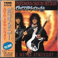 CACOPHONY Speed Metal Symphony JAPAN CD OBI 1996 FEMS APCY 2014 Megadeth