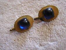 Antique Vintage  Cufflinks with Blue Stones