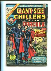 """GIANT-SIZE CHILLERS #1 - FEAT DRACULA """"The Fisherman Collection"""" (4.0) 1974"""