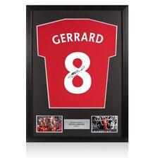 More details for framed steven gerrard signed t-shirt - number 8 autograph