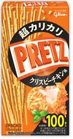 """Glico """"PRETZ"""" Thin Pretzels, Crispy Chicken flavor, Japan, 100 sticks, S10"""