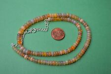 "81.00ct  17""  Natural Ethiopian Welo Opal Necklace 5.0 - 7.0 mm Rondelle Beads"