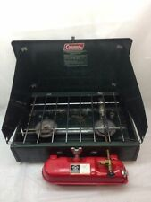 VINTAGE 1984 COLEMAN GAS 2 BURNER CAMPING STOVE VINTAGE MODEL 425F DATED 10-84