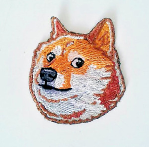 Dogecoin Doge Badge Extra Quality Sew-On Embroidered Patch Applique