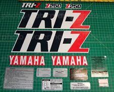 1986 86' Yamaha Navy/White TRI-Z 250 16pc kit Decals 3 wheeler Stickers ATV ATC