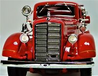 Vintage Antique 1940s Fire Truck A 1 T Metal Model 24 Engine Rare Pickup Car 18