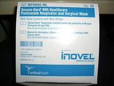 MD18 INOVEL 20 SECUREGARD N95 PARTICULATE RESPIRATOR/SURGICAL MASKS VETERINARY