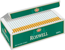 Roxwell Green 100mm Cigarette Filter Tubes Menthol  Sleeve Of 5 Boxes