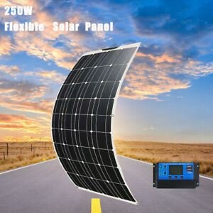 12V 250W Flexible Solar Panel Mono Kit 20A Controller Camping Battery Charger AU