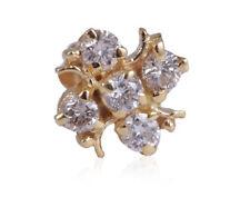 Nose Stud In Fine Hallmark 18K Gold Classy 0.13 Cts Round Brilliant Cut Diamonds