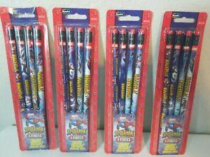 Marvel Spider-Man Wood Pencils 4 Packs of 4 (16 Total) New in Package School