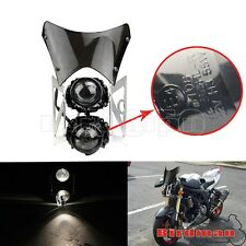 Dot Approved Dual Twin Streetfighter Headlight Faring Screen For Sachs Madass