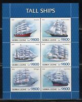 SIERRA LEONE 2018  TALL SHIPS  SHEET  MINT NH
