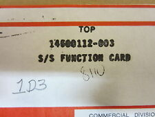 HONEYWELL  1D3  FUNCTION  CARD 14500112-003