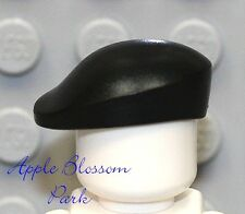 NEW Lego Minifig BLACK BERET -Marine Army Soldier Hat Armed Forces Navy Seal Cap