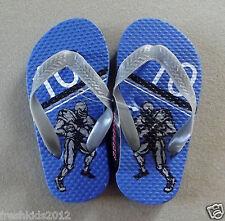 """Empire Little Boys Sport-Theme Flip-Flop Sandals """"Football"""" size (XL 3-4) NWT"""