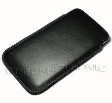 New Black slim PU leather case pouch sleeve for Samsung Galaxy Note i9220 N7000