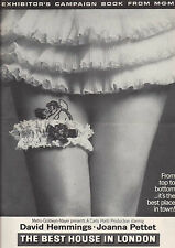 BEST HOUSE IN LONDON PRESSBOOK MGM, Joanna Pettet, David Hemmings sexploitation