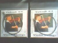 2 Sets Yehudi Violin Strings 4/4  E,A,D,G German Silver Wound Ball Ends