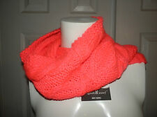 Hot Pink knit cowl neck circle infinity tube scarf New with Tags From Hot Topic