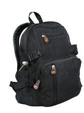Rothco 9153 Vintage Canvas Mini Backpack - Black