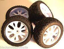 BS937-001 / 2 1/10 Échelle RC Buggy Street roues et pneus x 4 blanc