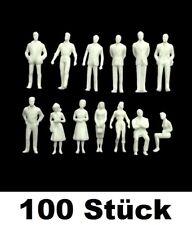 100 Stk. Modellbau WEISS Figuren Maßstab M 1:100 Architektur Menschen Mini weiß