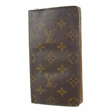Auth LOUIS VUITTON Vintage Monogram Porte Chequier Cartes Credit Wallet 1379