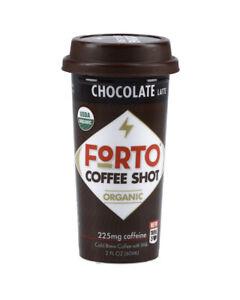12 Pack Forto Organic Energy Coffee Shot Chocolate Latte 2oz 200mg (12 bottles)