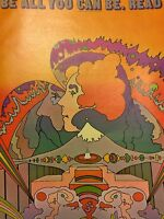 Vintage Peter Max Psychedelic Read Library Week Abstract Wall Art Pop Poster