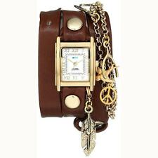 New With Box!! La Mer Watch Peace Pipe Wrap Watch In Brown 100% Authentic!!