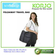 Korjo Foldaway Travel Bag Cabin Size Extra Bag Overnight Bag Black(TFB53)
