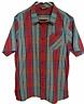 The North Face Mens Sz. XL Short Sleeve Button Down Shirt  Red Blue Plaid
