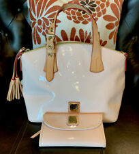 Dooney &Bourke Light Pink Patent Leather Dome Satchel W/matching Wallet