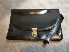Vintage Government Issue Black Leather Ladies Purse, EX