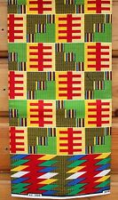 New African Kente Print Ethnic Ghanian Fabric Cloth Bright Colors Sold per yard