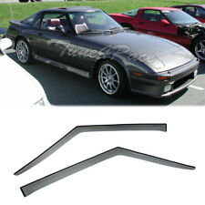 For 78-85 Mazda RX-7 SA FB Side Window Visors Smoke Tinted Rain Guard Shield JDM