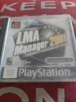 LMA Manager 2001 Sony PlayStation 1 Game PS1 PAL PS1 PS2 Black Label