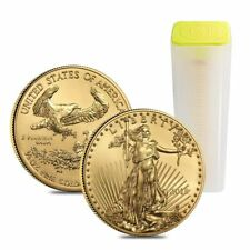 1 Roll ( 40 coins )  1/2 oz. 2018 American Gold Eagles $25 BU  ( 20 oz Gold )