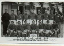 Photo de Bienvenu Football France Allemagne 1952  avec nom des joueurs