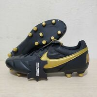 Nike Premier II 2 FG Leather Soccer Cleats Black Gold SZ ( 917803-077 )