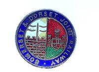 Vintage Somerset & Dorset joint Railways Enamel Badge