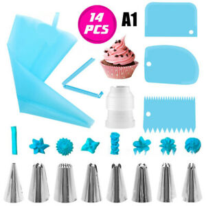 14Pcs Cake Decorating Piping Tips Silicone Pastry lcing Cake Decorating To Y1