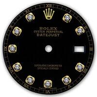 REFINED MENS 2-TONE DATEJUST BLACK DIAMOND DIAL RT FOR ROLEX-36