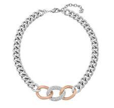NIB $199 Swarovski Bound Necklace Rose Gold & Palladium Plated Crystals #5080040