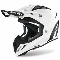 Airoh Off Road Aviator Ace Moto Motocross MX Dirt Bike Helmet Gloss White